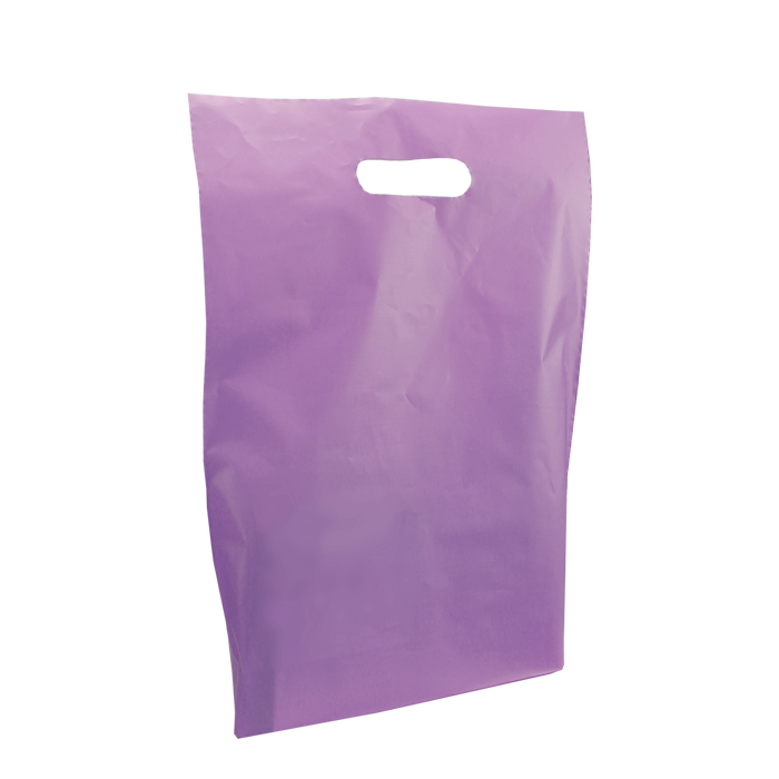 Lavender Medium Frosted Die Cut Bag