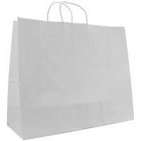 White Large White Paper Shopper Bag Thumb