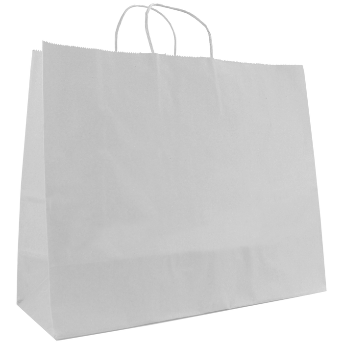 White Large White Paper Shopper Bag