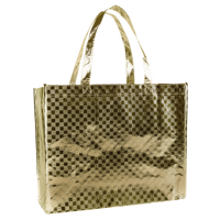 Metallic Gold Metallic Designer Laminated Tote Thumb