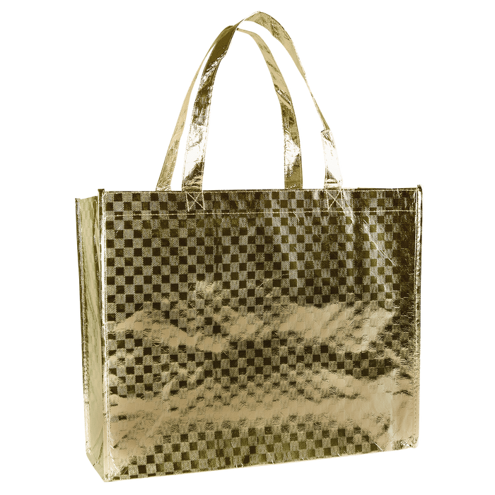 Metallic Gold Metallic Designer Laminated Tote