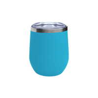 Matte Aqua Vacuum Insulated Stemless Wine Tumbler Thumb