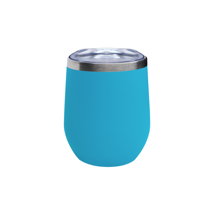 Matte Aqua Vacuum Insulated Stemless Wine Tumbler