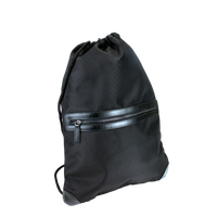 Black Classic Mesh Upscale Drawstring Backpack Thumb