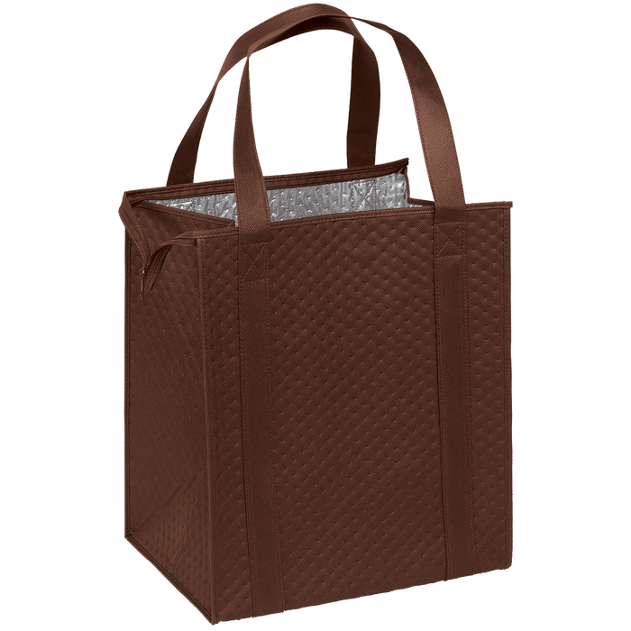 Brown Large Insulated Cooler Tote
