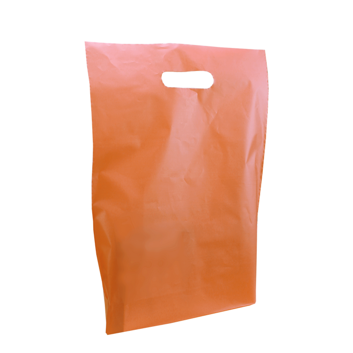 Tangerine Medium Frosted Die Cut Bag