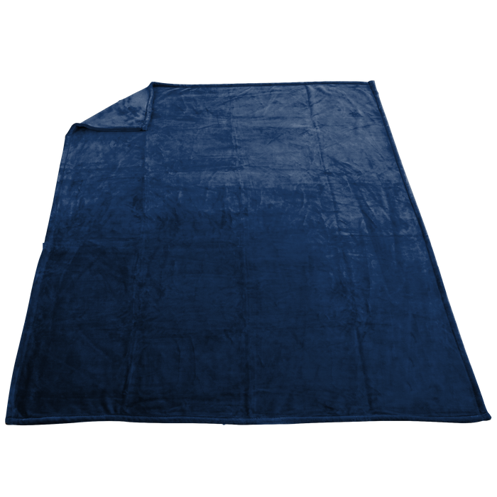 Navy Taos Microfleece Throw