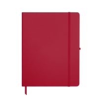 Red Large Soft Faux Leather Journal Thumb