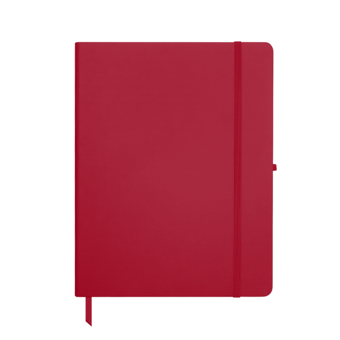Red Large Soft Faux Leather Journal