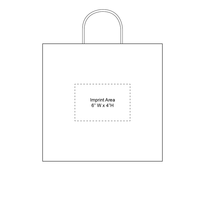 Medium White Paper Shopper Bag
