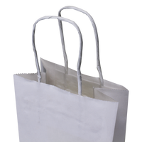 Mini White Paper Shopper Bag Thumb