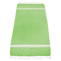 Lime Green Laguna Fringe Beach Towel Thumb