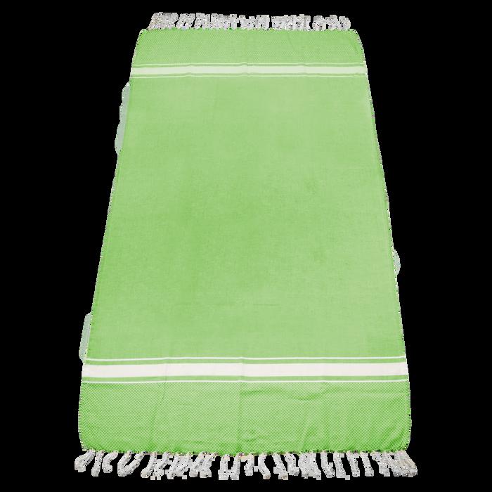Lime Green Laguna Fringe Beach Towel