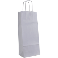 White 1 Bottle White Paper Bag Thumb