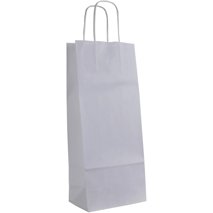 White 1 Bottle White Paper Bag