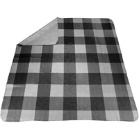 Gray Plaid Full Color Blanket Thumb