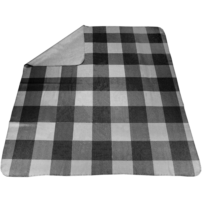 Gray Plaid Full Color Blanket