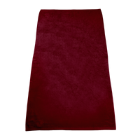 Maroon Classic Color Beach Towel Thumb