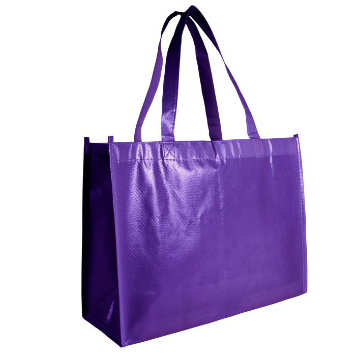 Purple Laminated Convention Tote