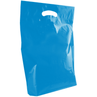 Blue Medium Die Cut Plastic Bag Thumb