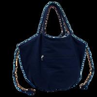 Navy Seaside Reversible Beach Bag Thumb