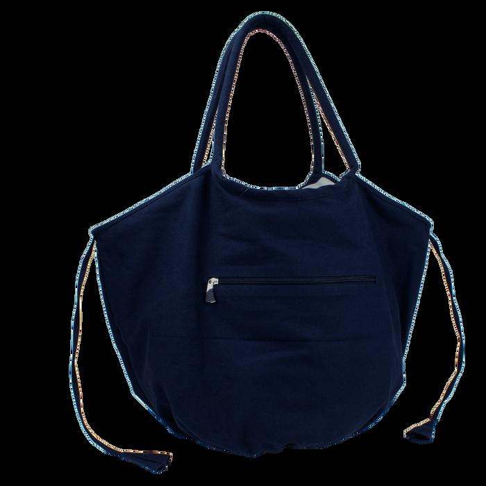 Navy Seaside Reversible Beach Bag