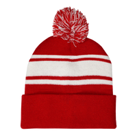 Red Striped Winter Beanie Thumb