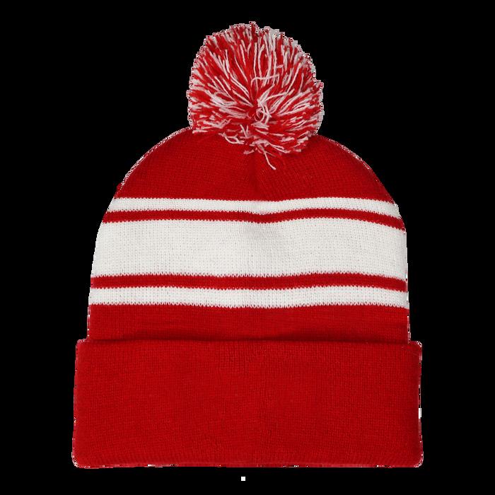 Red Striped Winter Beanie