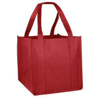 Red Cube Grocery Tote Thumb