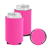 Hot Pink Premium Collapsible Neoprene Koozie Thumb