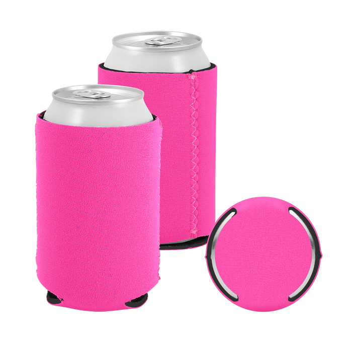 Hot Pink Premium Collapsible Neoprene Koozie