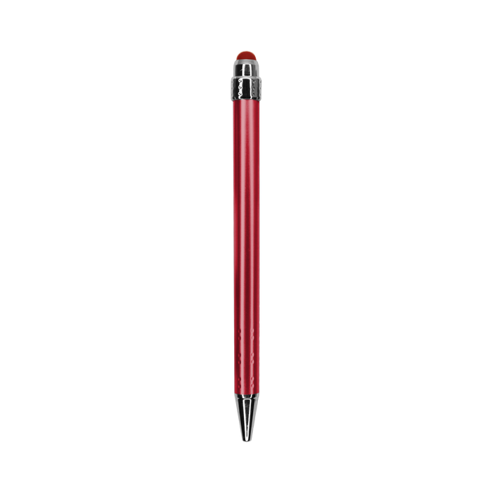 Red with Blue Ink Chrome Stylus Pen