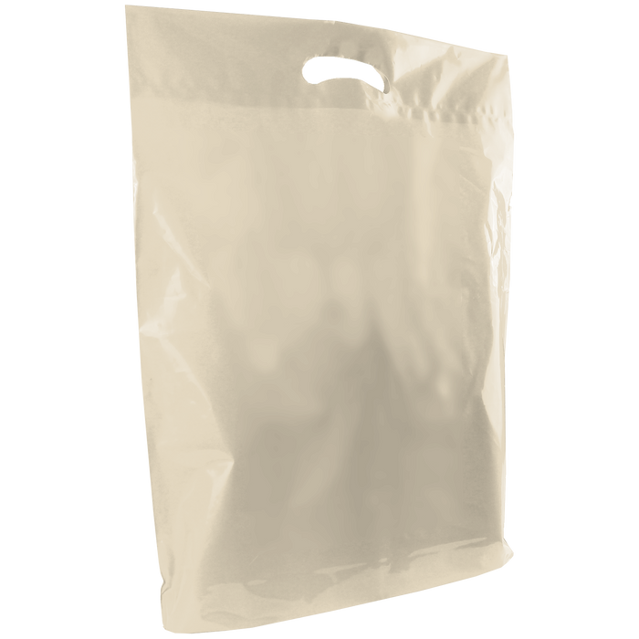 Ivory Large Die Cut Plastic Bag