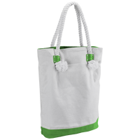 Lime Green Catamaran Canvas Tote Thumb