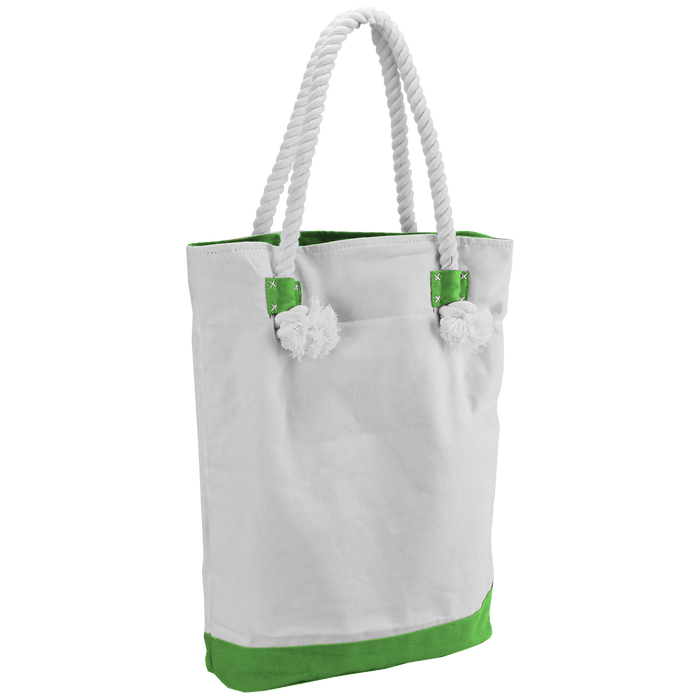 Lime Green Catamaran Canvas Tote