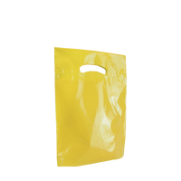 Yellow Small Eco-Friendly Die Cut Plastic Bag Thumb