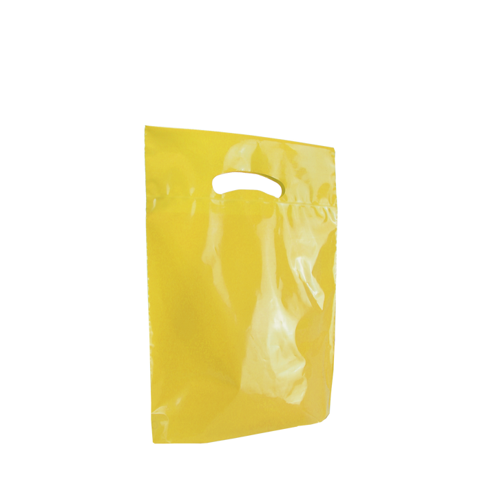 Yellow Small Eco-Friendly Die Cut Plastic Bag