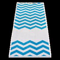 Turquoise Horizon Chevron Striped Beach Towel Thumb