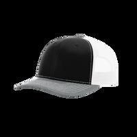 Black/Grey/White Richardson Trucker Snapback Hat Thumb