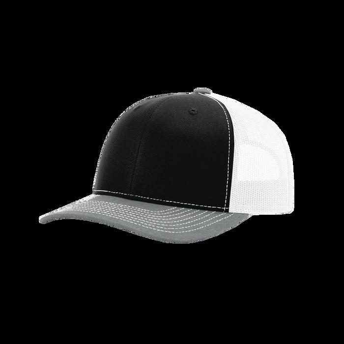 Black/Grey/White Richardson Trucker Snapback Hat