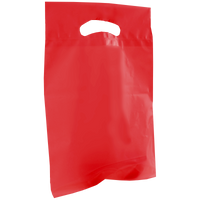 Red Small Recyclable Die Cut Plastic Bag Thumb