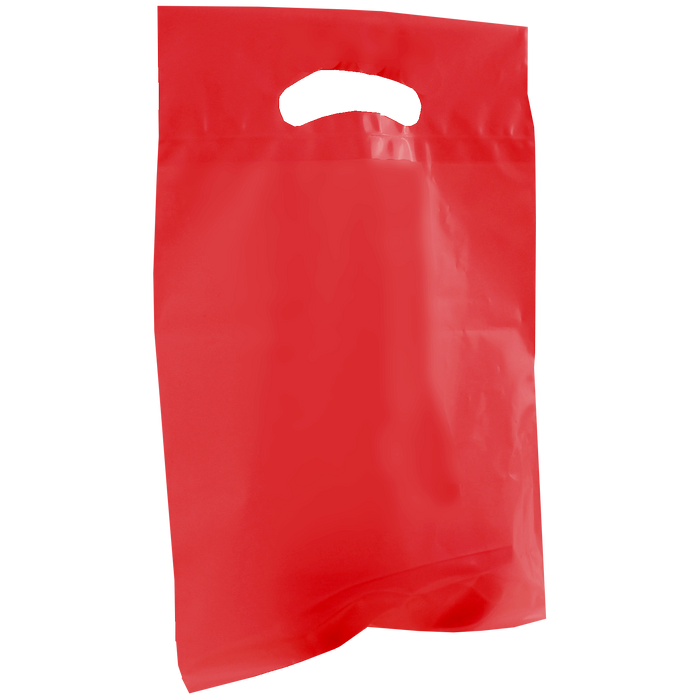 Red Small Recyclable Die Cut Plastic Bag