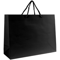 Black Medium Glossy Shopper Bag Thumb