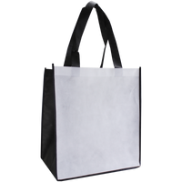White Full Color Big Tex Grocery Bag Thumb
