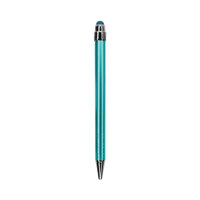 Teal Green with Blue Ink Chrome Stylus Pen Thumb