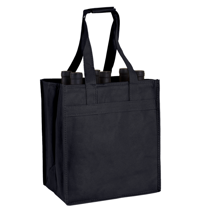 Black 6 Bottle Wine Tote
