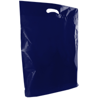 Navy Blue Large Die Cut Plastic Bag Thumb