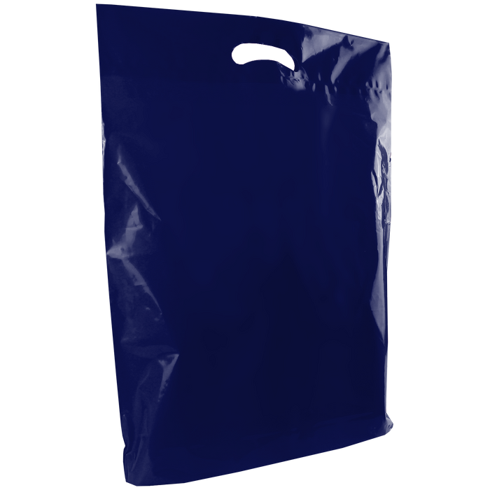 Navy Blue Large Die Cut Plastic Bag