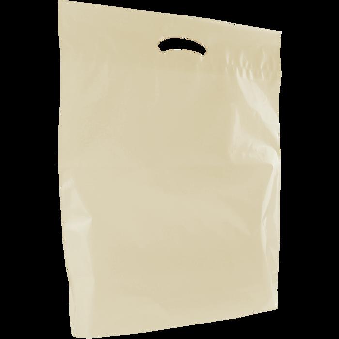 Ivory Large Eco-Friendly Die Cut Plastic Bag