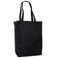 Black Cotton Canvas Tote Thumb